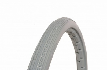 18 x 1 3/8 Grey Solid Wheelchair Tyre
