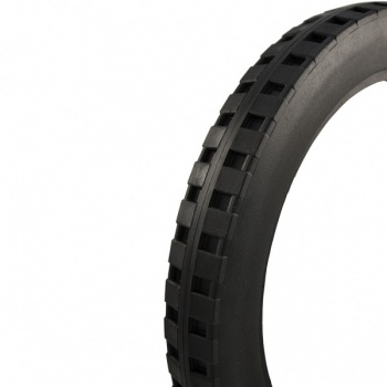 16 X 1.75 Black Solid Wheelchair Tyre