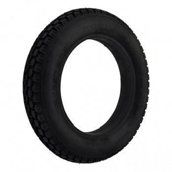 12.5 x 2.25 Black Solid Tyre For A Powerchair / Wheelchair