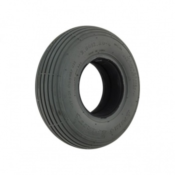 280/250 X 4 Grey Solid Ribbed Tyre For A Mobility Scooter