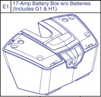 New 17amp Battery Box With or Without Batteries for a Pride GoGo LX Apex Rapid Mobility Scooter