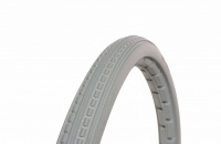 22 x 1 3/8 Light Grey Solid Wheelchair Tyre
