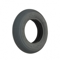 7 X 1 3/4 Grey Ribbed Solid Tyre For A Mobility Scooter