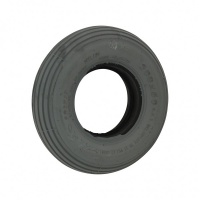200 x 50 Grey Ribbed Solid Tyre For A Mobility Scooter