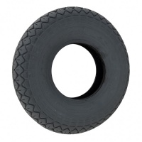 410/350 x 5 Grey Diamond Block Solid Tyre For A Mobility Scooter