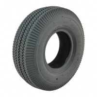 410/350 x 5 Grey Sawtooth Solid Tyre For A Mobility Scooter