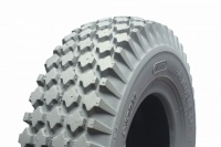 410/350 x 5 Grey Block Pneumatic Tyre For A Mobility Scooter