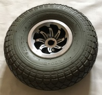 Used 400 x 5 Solid Cheng Shin Rear Tyre & Wheel For A Mobility Scooter - T117