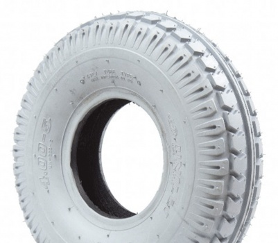 New 330x100 (4.00-5) Grey Chevron Pneumatic Tyre For A Mobility Scooter