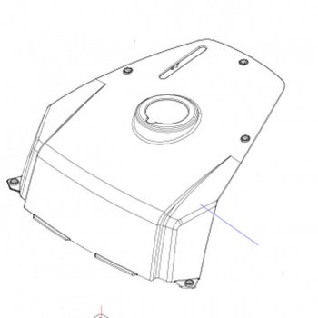 New Battery Cover Fender Heartway Royale Aviator 4 PF7 HW002 Scooter