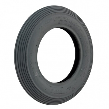 New 10 x 2 Cheng Shin Ribbed Grey Pneumatic Tyre For A Mobility Scooter