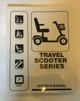 Used Owners Manual For A Pride GoGo Mobility Scooter B3361