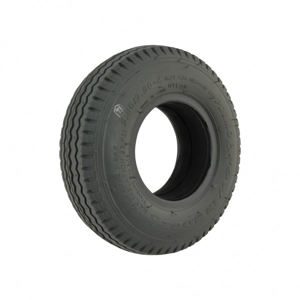 New 2.80/2.50-4 Grey Solid Sawtooth 53mm Tyre Tire Mobility Scooter