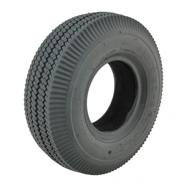 New 4.10/3.50-5 C189 Grey Sawtooth 63mm Solid Tyre Tire Scooter