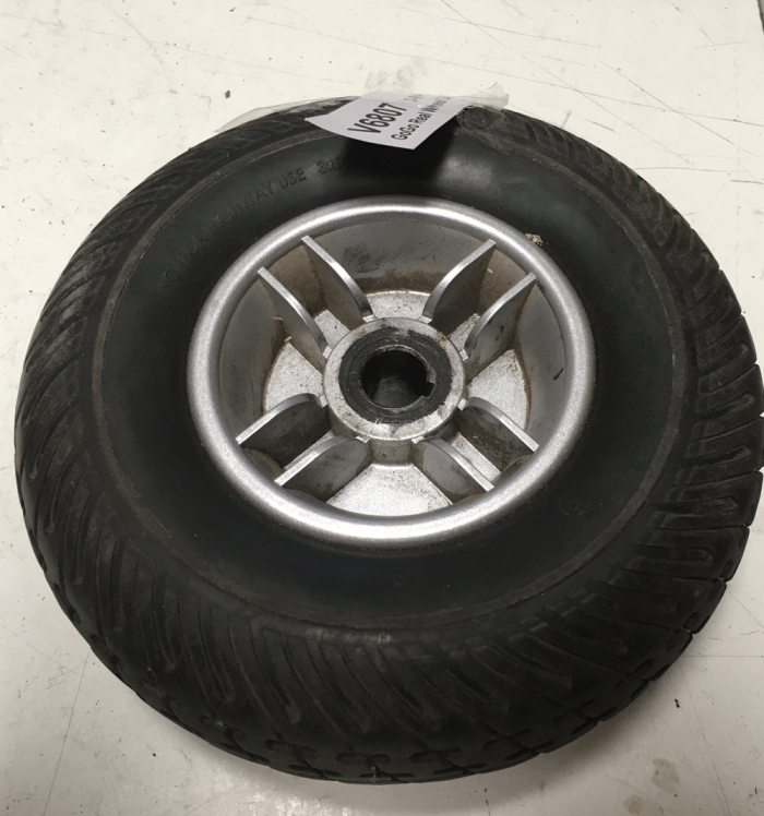 Used Rear Wheel Assembly Size: 3x9 For A Pride Mobility Scooter V6807