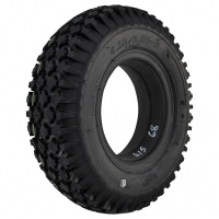 New 4.10/3.50-6 Grey Block Solid Tyre Tire For A Mobility Scooter