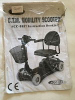 Used Owners Manual For A CTM ACC-888 Mobility Scooter S6153