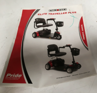 Used Owners Manual For A Pride GoGo Elite Mobility Scooter V113