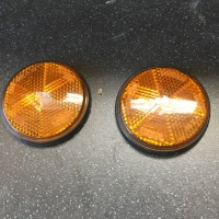 Used Pair of Orange Bolt Reflectors For Mobility Scooter V419